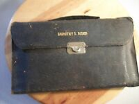 VINTAGE LEATHER TRAVEL GROOMING CASE KIT GERMANY RARE LADIES SET PERSONALIZED