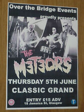 The Meteors Glasgow 2014 concert tour gig poster