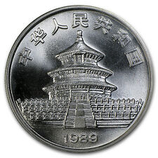 1989 1 oz Silver Chinese Panda Coin - Sealed in Plastic