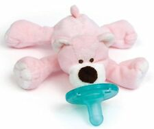 New | Wubbanub Pink Bear Infant Baby Soothie Pacifier Binky | Free Shipping