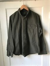Woolrich Mens Forest Green Button Down Flannel Shirt Size M