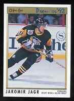 1991-92 O-Pee-Chee OPC Premier Jaromir Jagr #24 Pittsburgh Penguins