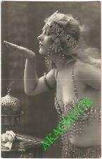 1920s French RPPC Photo EROTIC ART DECO FEMME FATALE Jazz Age PC STUDIO PARIS