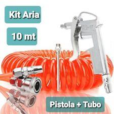Kit Bundle Pistola Soffiaggio + Tubo Attacco Rapido Da 10 Metri Spirale