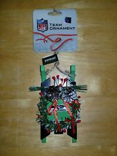Seattle Seahawks Winter Sled With Logo Nfl Team Christmas Ornament New
