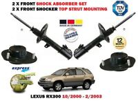 Per Lexus RX300 2000-2003 Nuovo 2X Set Ammortizzatori Anteriori + Top Supporti