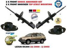 für LEXUS RX300 2000-2003 NEU 2 x vorderer STOßDÄMPFER-SATZ + Oberteil