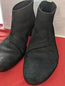 ARCHE BLACK SUEDE/LEATHER BOOTIES SIZE 36