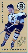 Autographed 1994 Parkhurst Tall Boy Gary Dornhoefer Card #20 Boston Bruins