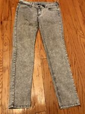 City Streets Gray Skinny Jeans Size 11 Inseam 30 Waist 33 In Good Condition