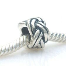 FORGET ME KNOT Spacer Charm Bead 925 Sterling Silver