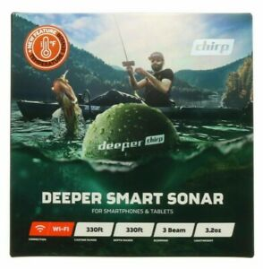 Deeper Chirp Smart Sonar Castable Portable Fish Finder ~ New