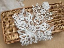 Sew on Embroidery Applique Ivory Lace Wedding Motif Bridal Applique Trim 1 Piece