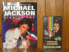 Lot of 2 Magazine & Vhs Michael Jackson King of Pop Moonwalker Usa Today Life