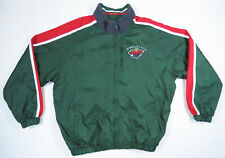 Minnesota Wild Carl Banks GIII Reversible Nylon Fleece Hockey Jacket Mens L