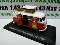 CC3 1/43 camping cars hachettes TEST ITALIE VOLKSWAGEN  Kombi T1 Westfalia SO 42