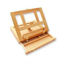 Artists Adjustable Natural Wooden Table Top Easel Portable Desk Box Painting Art