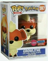 Growlithe Flocked Pokemon Funko Pop! 2020 Fall Convention NYCC Shared 597