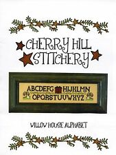 Willow House Alphabet Cross Stitch Chart Pack - Cherry Hill Stitchery - NIP