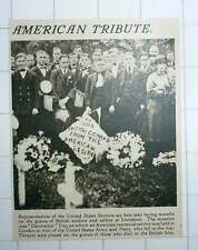 1920 American Tributes Liverpool Decoration Day To Commemorate Us Army And Navy