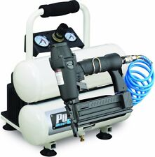 Portable Twin Tank Electric Air Compressor With Nail Gun And Accessories New