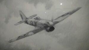 Hawker Tempest 486 RNZAF Squadron Ron Fulstow Original Aviation Art Drawing
