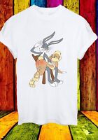 Disney Bugs Lola Bunny Spank Cartoon Punishment Men Women Unisex T-shirt 682