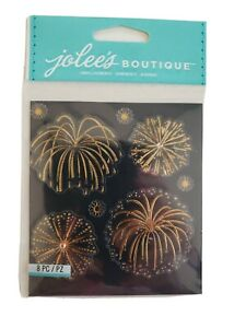 Jolees Boutique Fireworks Gold scrapbooking stickers