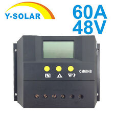 LCD 60A 48V Solar Panel Charge Controller Battery Charger Regulator PWM Mode