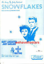 "A Child Is Waiting Sheet Music ""Snowflakes"" Judy Garland Burt Lancaster"
