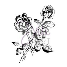 Sello Dali Arte claro Rose Journal Cardmaking Flores Scrapbooking botánico