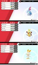 Pokemon Sword Shield / Shiny Grookey Sobble Scorbunny Bundle / 6 IV / FAST!!!