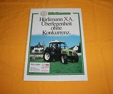 Hürlimann XA 1995 Traktor Prospekt Tractor Brochure Tracteur Depliant  Prospetto
