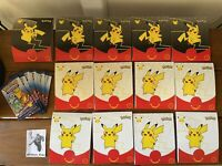 McDonalds Pokemon 25th Anniversary Happy Meal Toy Sleeve No Cards Lot Of 12