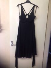 'Ted Baker' Black Silk dress - size 2