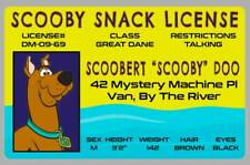 Scooby Doo Novelty Drivers License ID Card Snack Mystery Machine Gang