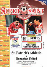 1994/95 St Patrick's Athletic v Monaghan United, League, PERFECT CONDITION