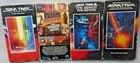 Lot of 4 Vintage Star Trek VHS Videos Wrath of Khan, Search for Spock