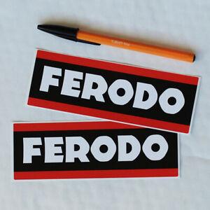 Ferodo brake pad stickers 150mm long pair Motor Race Rally A110 Lancia Fiat