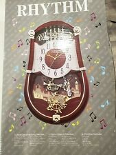New RHYTHM Concerto Entertainer II Clarion Musical Clock