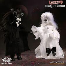 "LIVING DEAD DOLLS presenta bellezza e la bestia bambola Figure Set MEZCO 10 "" / 25cm"