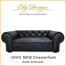 Sofá para perro OHIO Nuevo Chesterfield ANTIGUO Antracita XL cama HECHO A MANO -