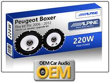 "Peugeot Boxer Front Door speakers Alpine 6.5"" 17cm car speaker kit 220W Max"