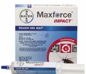 Maxforce Impact Roach Gel Bait (2 tubes 1 Plunger  2 Tips) Cockroach Control