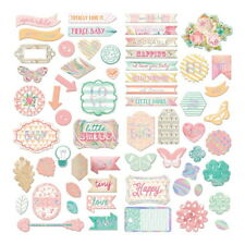 HEAVEN SENT 2 - 63  Gorgeous BABY Chipboard Stickers - Prima
