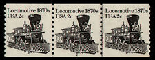 UNITED STATES, SCOTT # 1897A, MNH STRIP OF 3 COIL STAMPS PNC # 4 LOCOMOTIVE, MNH