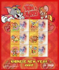 P5-INDONESIA PERSONALIZED STAMP 2007, TOM & JERRY. CHINESE NEW YEAR 2008