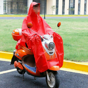 Waterproof Raincoat Rain Coat Mobility Scooter Motorcycle Hooded Cape Poncho PVC