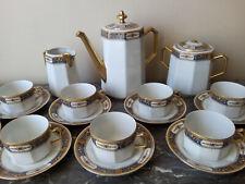 Service à café Porcelaine de LIMOGES - Limoges porcelain coffee service