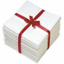 24 P X 22 SIZE HANDKERCHIEF WHITE PLAIN PURE SOFT COTTON HANKIES GIFT FOR MEN'S